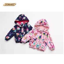 4 Colors Autumn Cute Cartoon Graffiti Girls Coats and Jackets Cotton Lining Baby Outwear Kids Jacket Boy Girl Hooded Windbreaker