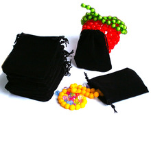 High Quality 5 Pcs 7x9cm/10X12cm Great Color Choice Velvet Drawstring Pouch Bag/Jewelry Bag Christmas/Wedding Gift Bag