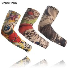 Motorcycle Arm Sleeves Tattoo Running Arm Sleeves Cycling Bicycle Arm Warmers Camping Sports UV Protection Oversleeves UNDEFINED(China)