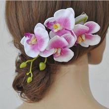 Buy 1 Pc Wedding Bridal Hairpins Orchid Flower Hair Clips Girls Barrette Bohemia Beach Decoration Hair Accessories Women for $1.14 in AliExpress store