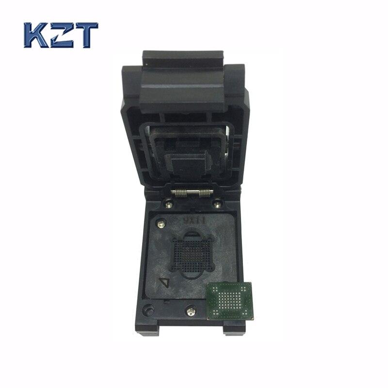 VFBGA63 BGA63 Burn in Socket Test Socket Pin Pitch 0.8mm IC Body Size 10.5x13.5mm Programmer Adapter Burning Socket<br>
