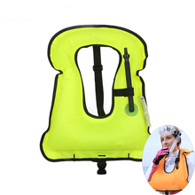 Inflatable Life Vest Jacket Life-Saving Float Ring Snorkeling Gear Dive Equipment Water Sports Swimming Drifting Surfing Vest
