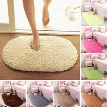 Wholesale 40*60CM Bedroom Oval Carpet Floor Mats Anti-slip Bottom Door Mat  Plush Rug Blanket Mat Magic Slip-Resistant Pad