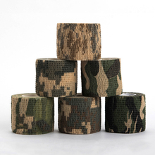 4pcs/lot Elastic Stealth Waterproof Stretch Bandage Camouflage Tape Airsoft Paintball Gun Rifle Shooting/Hunting and War Games