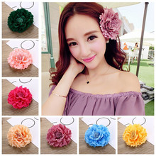 Bohemia Style Bridal Flower Hair Clip Beauty Hairpins Barrette Wedding Hair Decoration Beach Headwear Brooch Hair Accessories