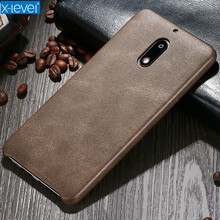 X-Level Luxury PU Leather Phone Case For Nokia 6 Back Cover For Nokia 6 Case Mobile Phone Accessories(China)