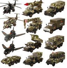 1:43 alloy pull back military vehicle model,high simulation military truck toy,musical&flashing toy vehicle,free shipping(China)