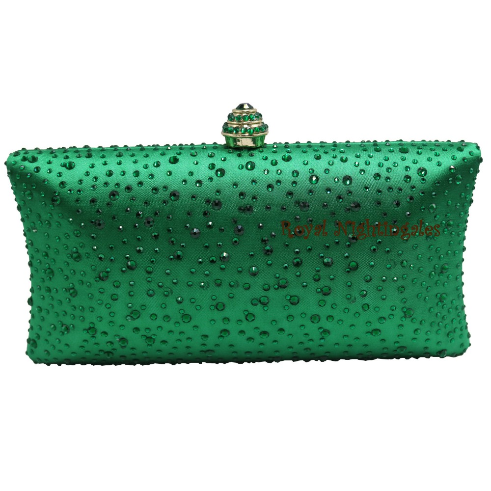 Womens Dark Green Evening Clutch Bags with Sparkle Crystal Diamonds for Ladies Wedding Prom Evening Party Crystal Box Clutch<br><br>Aliexpress