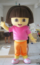 2017 New Mascot Costumes For Adults Christmas Halloween Outfit Fancy Dress Suit Free Shipping Dora(China)