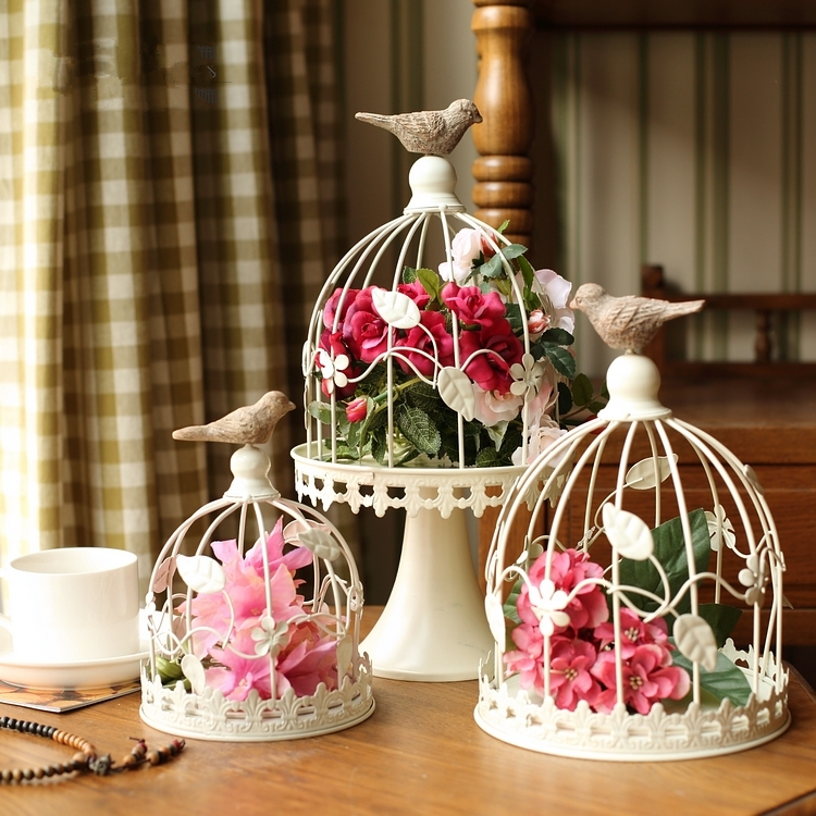 Hand Made Fashion Antique Decorative Bird Cages Classic Iron Birdcage For Wedding DecorationChina