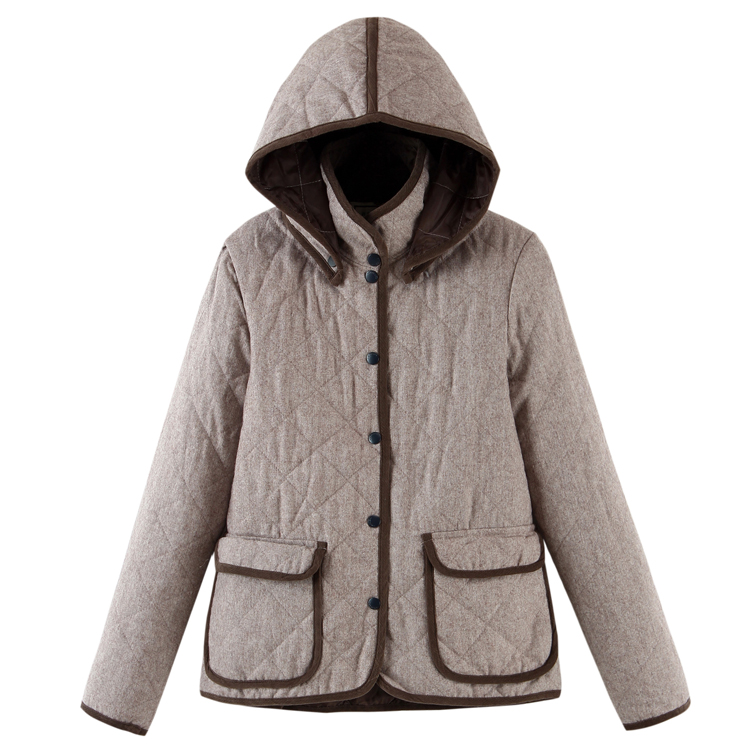 2017 Womens autumn and winter medium-long wadded outerwear cap disassembly Solid thicken cotton female coat Free ShippingОдежда и ак�е��уары<br><br><br>Aliexpress