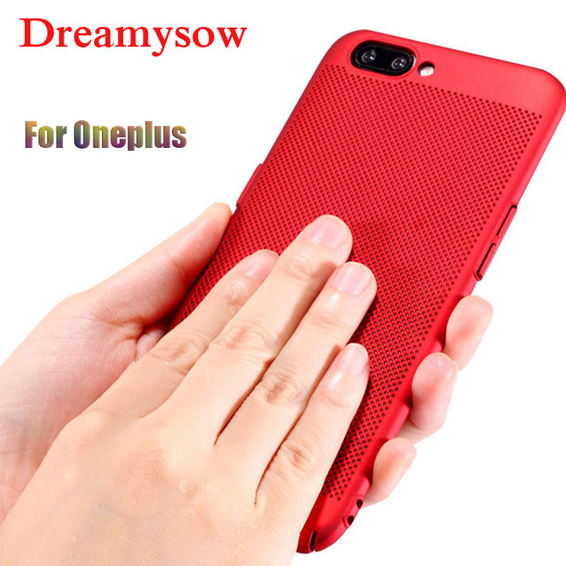 Breathable Case Oneplus 6 5T 5 1+ 5 5T Heat Dissipation Back Cover One plus 6 5 5T Case Phone Shell Protective Cover