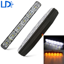 Car Turn Signal DRL LED Daytime Running Light Yellow and White Turn Signals Light For Car 6 LEDs Auto Lamp Car-styling Day Light
