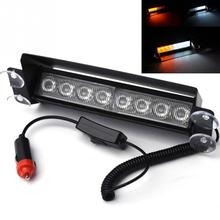 8 LED Strobe Flash Warning Light Car Boat Truck Flashing Signal Emergency Windshield Unit 3-Mode Strobe Light Lamp