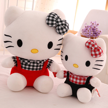 New Kawaii 25cm Hello Kitty Doll Cute Cartoon Cloth Cat Plush Toy Baby Soft Stuffed Animals Dolls Kids Toy Girls Birthday Gifts