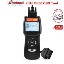 2017 Newest D900 scanner Universal OBD2 EOBD CAN Fault Code Reader Scanner Diagnostic Scan For Any Car Free Shipping