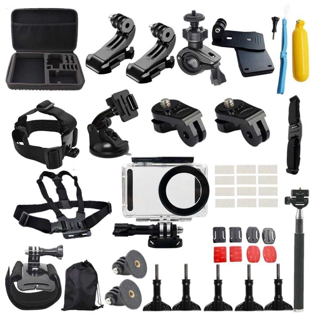 Waterproof Camera Accessories Set for Xiaomi Mijia 4K Mini Camera Multi-in-1 fitting for Diving/Skiing/Racing/Climbing/Riding<br>