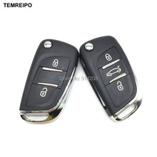 TEMREIPO Modified Flip Remote Key Shell For Peugeot 307 308 408 For Citroen C-Triomphe C-Quatre C3 C4L C5 Without Groove(China)