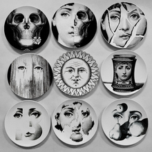 fashion home decorative piero Fornasetti hanging plates/dish Verne Sethi living room/bar/restarant/banquet/hall decorations(China)