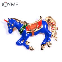 Unicorn Horse Brooch Collar Pin Badge Pins Anime Clothes Broach Scarf Clip Decorative Brooches Men Lapel Pins for Suits Jewelry(China)