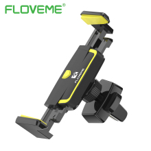 FLOVEME Car Holder Air Vent Mount Automatic Lock Adjustable Phone Holder Stand For iPhone X 6 7 8 3-6 inch Hit Color Car Bracket(China)