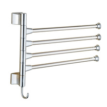 Wall-mounted Towel Rack Steel Bathroom Kitchen Rotating Towel Cloth Polished Rack Holder Hanger Prateleiral Hardware Accessory
