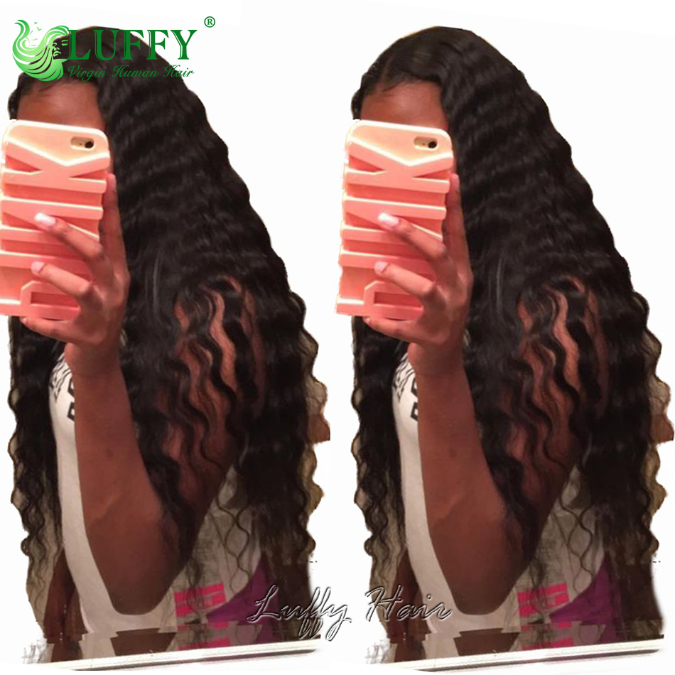 Loose Deep Wave U Part Human Hair Wig Middle Parting Virgin Peruvian Hair U Part Wig Natural Color 130 Density<br><br>Aliexpress