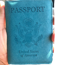 Customized PU Pure Color USA UK Professional Passport holder Package Travel Multifunction Carrying Case passport cover(China)