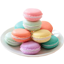 50PCS Mini Macarons earrings jewelry box / Bulk candy colored boxes for storage Wedding gifts cute gift