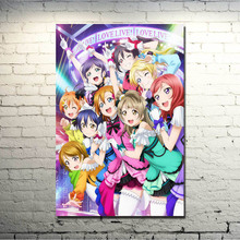 Love Live! School idol Project Art Silk Poster Print 13x20 24x36 inches Japan Sexy Anime Girl Pictures for Living Room Decor 016(China)