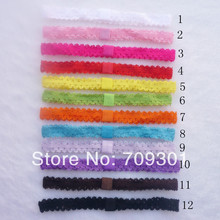 Lace Headband alternative Shimmery Stretchy FOE headbands Interchangeable hair band Hair Accessories 12colors u pick(China)