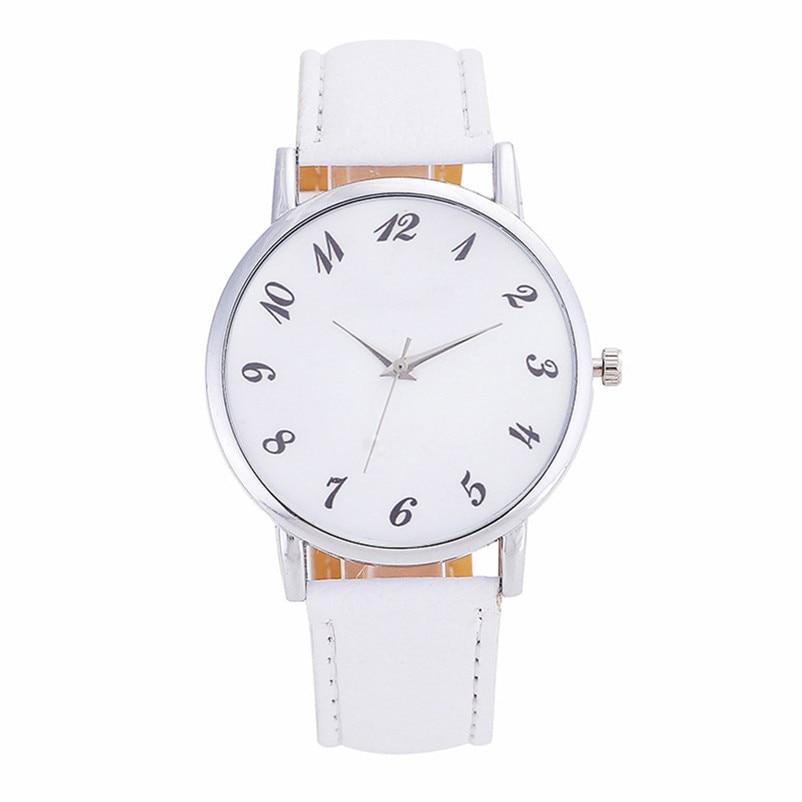 2018 High Quality women fashion casual watch luxury dress Beautiful Fashion Simple Watch Leather band Watch Reloj mujer J06#N (1)