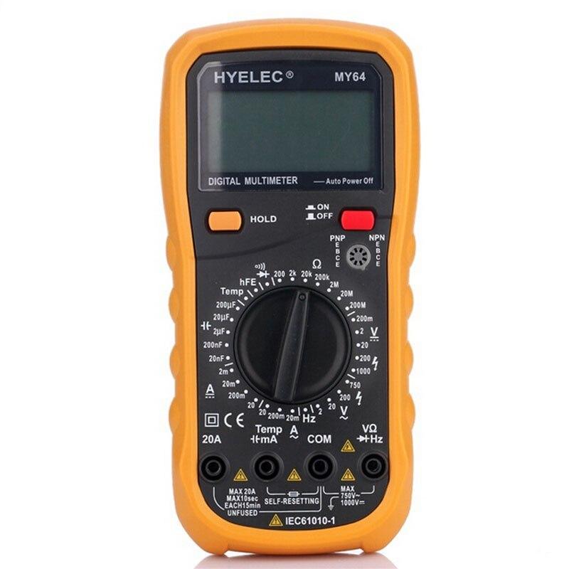 Digital Multimeter Tester AC/DC Amperemeter ohm meter PEAKMETER MY64 <br><br>Aliexpress