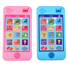 Hot sales! Kids Russian Baby Language ABC Alphabet Music Math ,Early Learning & Education Machines Mobile Phone Toy(China)