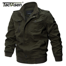 TACVASEN Military Jacket Men Winter Cotton Jacket Coat Army Men's Pilot Jackets Air Force Spring Cargo Jaqueta TD-QZQQ-009(China)