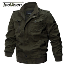 TACVASEN Military Jacket Men Winter Thermal Cotton Jacket Coat Army Men's Pilot Jackets Air Force Cargo Jaqueta TD-QZQQ-009(China)