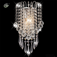 Modern Art Decor Stainless Steel Plating LED Crystal Wall Light Lamp Bedroom Home Wall Sconce Lighting Free Shipping(China)