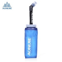 Buy AONIJIE Foldable TPU 350ml Water Bag Soft Flask 600ml Water Bottle Bike Cycling Outdoor Sport Running Hiking Camping Drinkware for $7.00 in AliExpress store