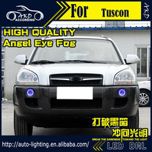 Car Styling Angel Eye Fog Lamp for Hyundai Tuscon LED DRL 2010-2012 LED Fog Light CCFL Xenon Option Automotive Accessories