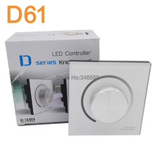 LTECH D61 DC12V / 24V Input 6A x 1CH + 0-10V Output Knob Panel Wall Mount Dimmer Controller for Single Color LED Strip Light(China)