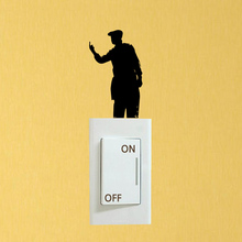 Fashion Bedroom Decoration Accessories Vinyl Wall Switch Stickers Decals 6SS0274(China)