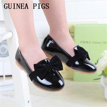 Spring summer autumn fashion children's casual shoes patent leather high-grade PU shoes girls girls shoes black red size 9-4.5