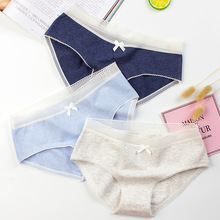SP&CITY Simple Style Bow Lace Panties Sex Thong Women Cotton Seamless Briefs Young Girl Student Cute Underwear Female Lingerie(China)