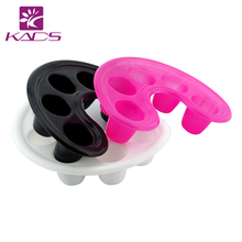 KADS Pink / White / Black Manicure Bowl Soak Finger Acrylic Tip Nail Soaker Tray Treatment Remover Bowl Tool