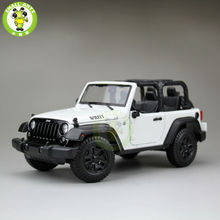 1:18 Scale 2014 Jeep Wrangler New Willys Diecast Car Suv Model Maisto 31676 White&Black(China)
