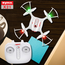 2017 Syma X21 Drone Newest Style RC Quacopter 2.4G 4CH Helicopter with Headless Mode Pneumatic hover Fixed high without camera(China)