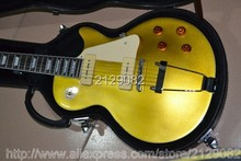 Wholesale best guitar G lp custom 6 string electric gutiar with gold top and P90 pickups solid Jazz Guitar Free Shipping