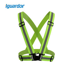 Buy Iguardor High Visibility Unisex Adjustable Day Night Cycling Riding Running Outdoor Sports Reflective Safety Vest Strips for $4.38 in AliExpress store