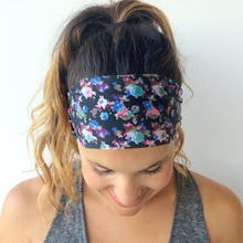 1PC 2016 Sweet Women Girl Print Floral Flower Wide Headband Bandanas Headwar Hair Band Accessories