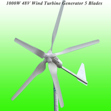 2017 Hot Selling CE/ROHS/ISO9001 Approved Excellent 5 Blade 48V 1000W Wind Generator Wind Turbine Generator Kit 1KW Wind Turbine